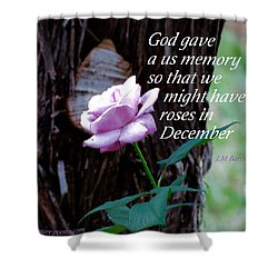 Shower Curtain featuring the photograph Memories Throughout  by David Norman