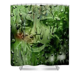 Shower Curtain featuring the digital art Memory In The Rain by Darren Cannell