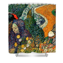 Shower Curtain featuring the painting Memory Of The Garden At Etten by Van Gogh