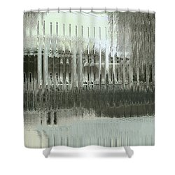 Shower Curtain featuring the digital art Memory Palace - Fading by Wendy J St Christopher
