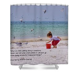 Shower Curtain featuring the photograph Memory by Peggy Hughes
