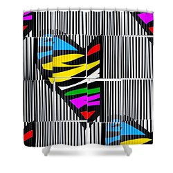 Memory Popart Heart By Nico Bielow  Shower Curtain