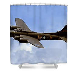 Memphis Belle Shower Curtain by Bill Lindsay