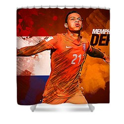 Memphis Depay Shower Curtain