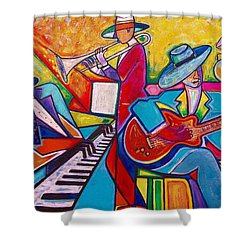 Memphis Music Shower Curtain