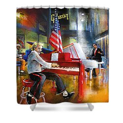 Memphis Nights 04 Shower Curtain by Miki De Goodaboom