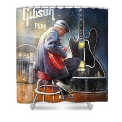 Memphis Nights 05 Shower Curtain by Miki De Goodaboom