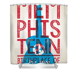 Memphis Tennessee - Birthplace Of Rock N Rll Shower Curtain by Jim Zahniser