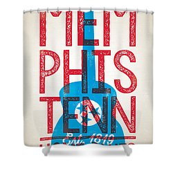 Memphis Tennessee - Home Of The Blues Shower Curtain by Jim Zahniser