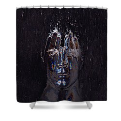 Men Are From Mars Silver Shower Curtain by ISAW Gallery
