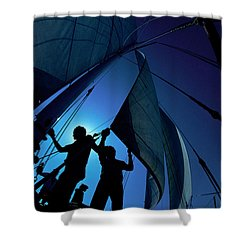 Men At Work Shower Curtain