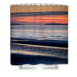 Menai Strait Shower Curtain