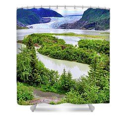 Mendenhall Glacier Alaska Shower Curtain