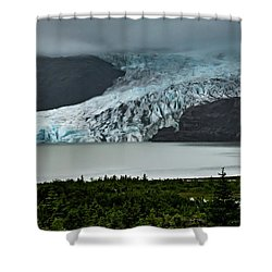 Shower Curtain featuring the photograph Mendenhall Glacier by Ed Clark