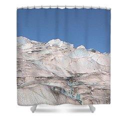 Shower Curtain featuring the photograph Mendenhall Glacier Panoramic by Kristin Elmquist