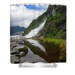 Mendenhall Waterfall Shower Curtain