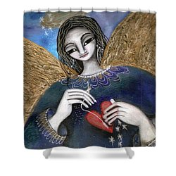 Mender Of Hearts Angel Shower Curtain