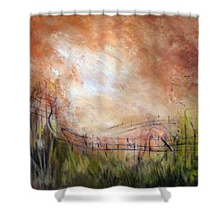 Mending Fences Shower Curtain