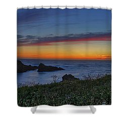 Mendocino Headlands Sunset Shower Curtain
