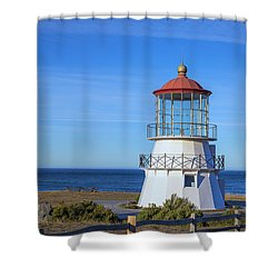 Mendocino Ligthhouse Shower Curtain
