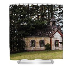 Mendocino Schoolhouse Shower Curtain by Grant Groberg
