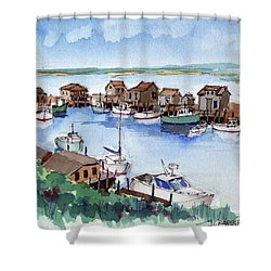 Menemsha Safe Haven Shower Curtain by John Crowther