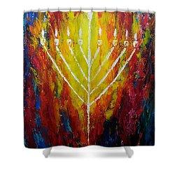 Chabad Menorah Shower Curtain