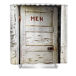 Men's Room Shower Curtain by Marilyn Hunt