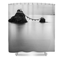Meoto Iwa Shower Curtain