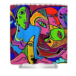 Mer Woman Shower Curtain