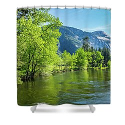 Merced River In Yosemite Valley Shower Curtain