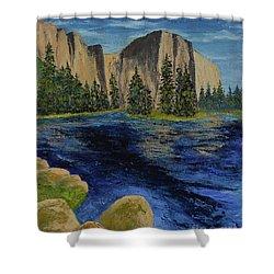 Merced River, Yosemite Park Shower Curtain