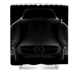 Mercedes 300 Sl Roadster - Front View Shower Curtain