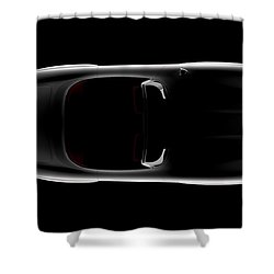 Mercedes 300 Sl Roadster - Top View Shower Curtain