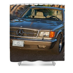 Mercedes 560sec W126 Shower Curtain