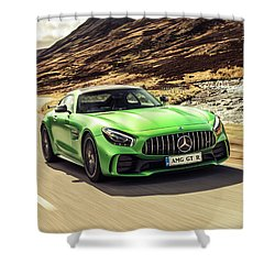 Mercedes A M G  G T  R Shower Curtain by Movie Poster Prints