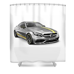Mercedes Amg C 63 S Luxury Sports Car Shower Curtain