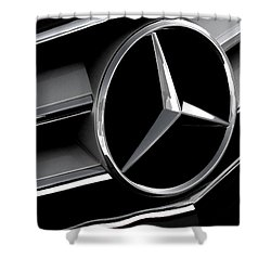 Mercedes Badge Shower Curtain by Douglas Pittman