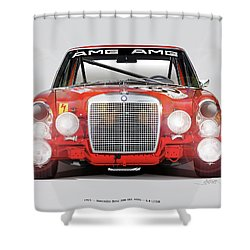 Mercedes-benz 300sel 6.3 Amg Shower Curtain