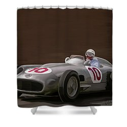 Mercedes-benz W196 Number 10 Shower Curtain by Wally Hampton