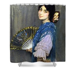 Mercedes Shower Curtain by Francis Luis Mora