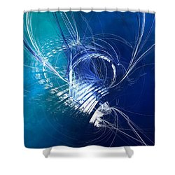 Mercury In Cancer - Cardinal Water Shower Curtain by Menega Sabidussi