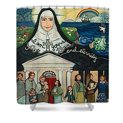 Mercy Foundress Catherine Mcauley Shower Curtain
