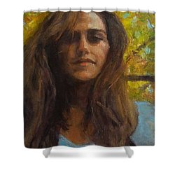 Meredith In Autumn Shower Curtain by Brian Kardell
