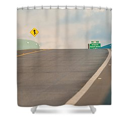 Merge To The Clouds Shower Curtain