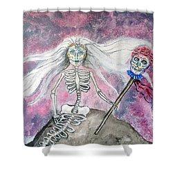 Meridol Queen Of The Undead Mermaids Shower Curtain