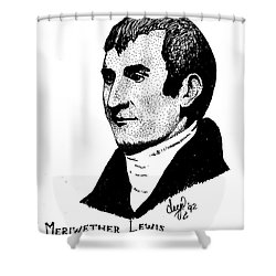 Meriwether Lewis Shower Curtain