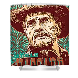 Merle Haggard Pop Art Shower Curtain by Jim Zahniser