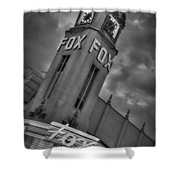 Merle Haggard Rip Fox Theater Black And White Shower Curtain