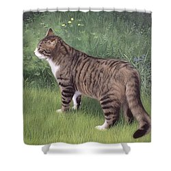 Merlin Portrait Shower Curtain